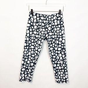Onzie Skull Print Crop Black & White S/M